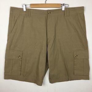 Haggar Men's Tan Cargo Shorts